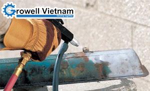 Chuẩn bị quy trình phun cát làm sạch bề mặt – Growell Việt Nam