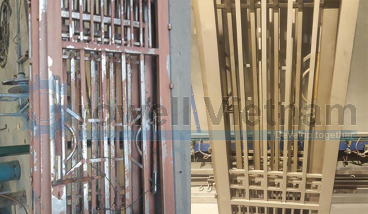 Phun cát làm sạch hàng rào - cổng cửa