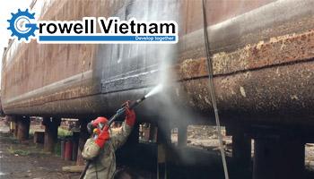 Xu hướng phun cát ướt trong Công nghiệp đóng tàu